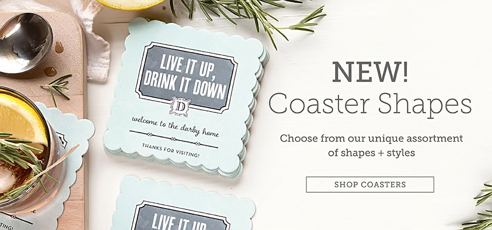 Custom Coasters & Custom Shape Labels